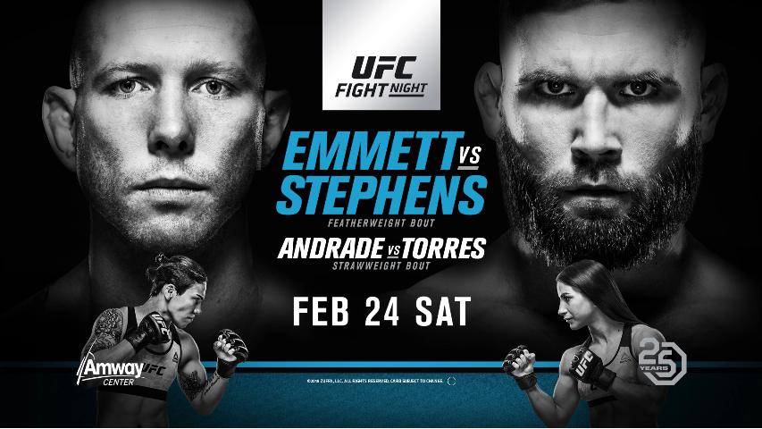 UFC on Fox: Emmett vs. Stephens Results