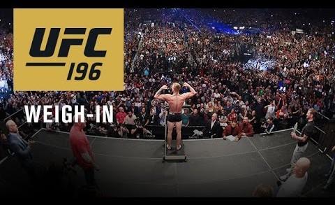 UFC 196: Weigh-in