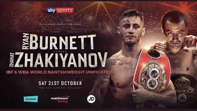 Burnett vs. Zhakiyanov Set For 21st October