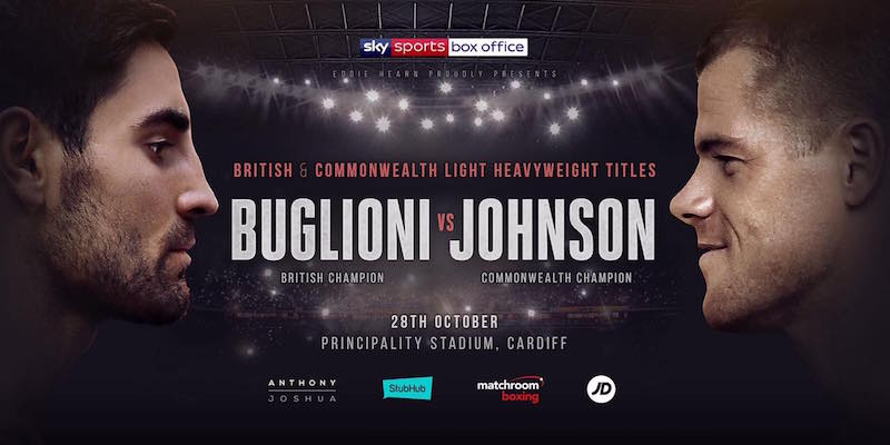 Buglioni vs. Johnson set for 28th October