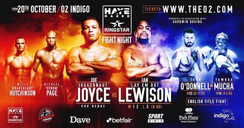 Joyce makes pro debut against Lewison on 20th October