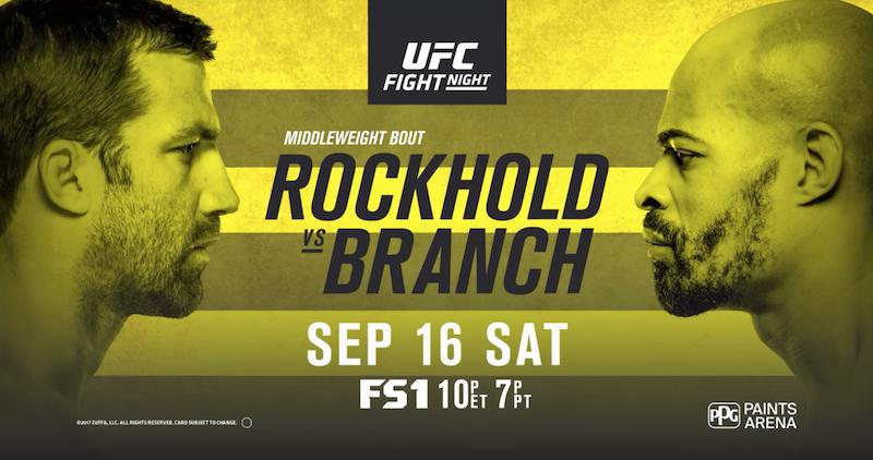 UFC Fight Night: Rockhold vs. Branch Fight Card