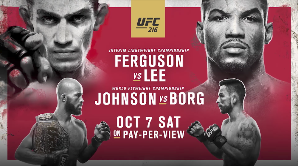 UFC 216 Fight Card