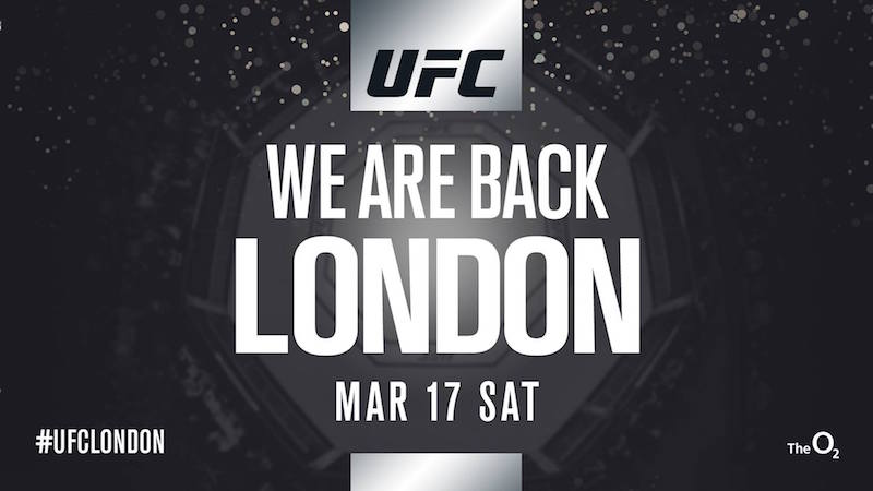 UFC Returns To London In 2018