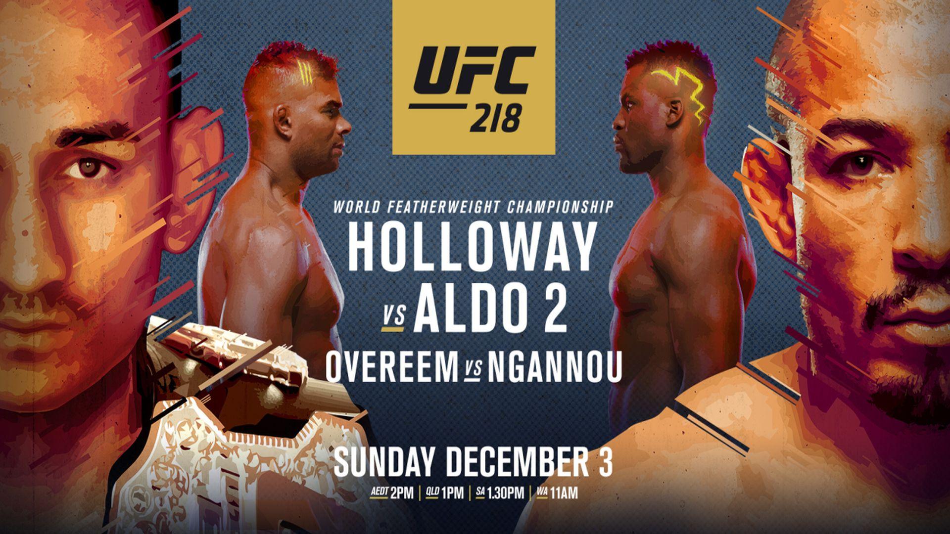 UFC 218 Fight Card