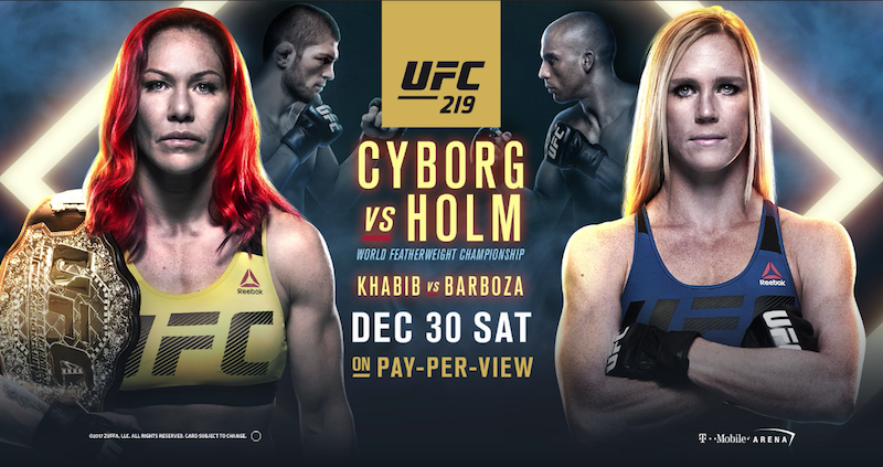UFC 219 Fight Card