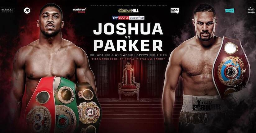 Joshua vs. Parker set for Saturday 31st March