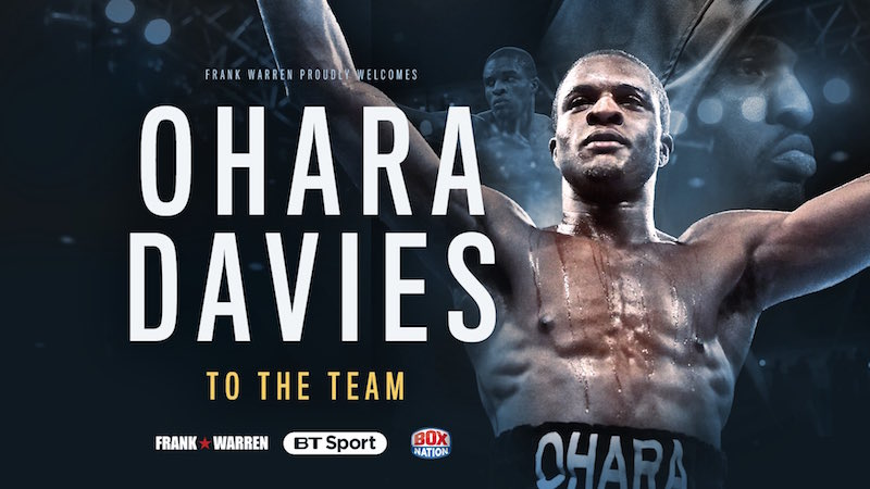 Ohara Davies Signs With Frank Warren Promotions
