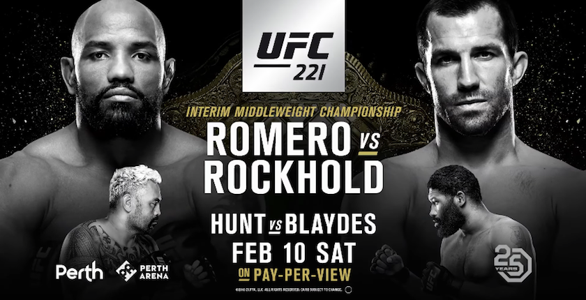 UFC 221 Fight Card