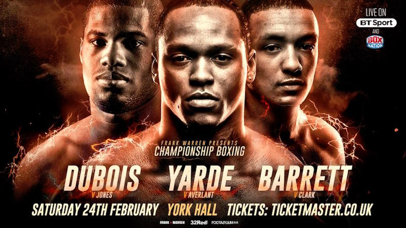 Championship Boxing on Saturday 24th February