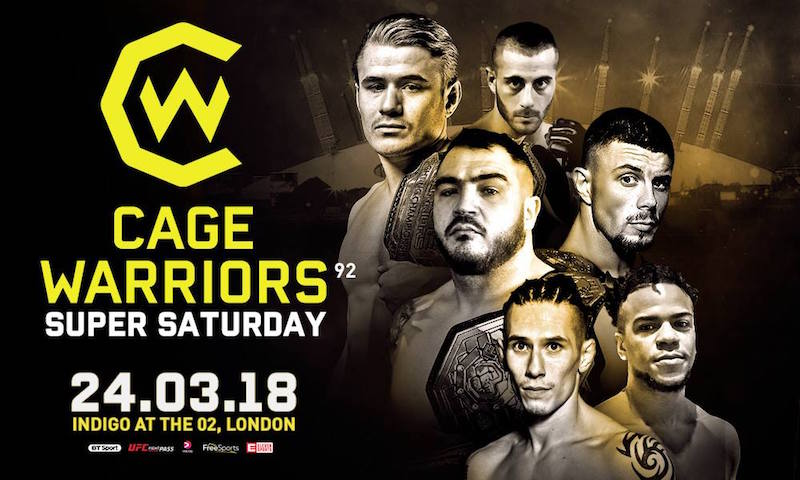 Cage Warriors 92 Results: Wood flattens Iovine in 50 seconds