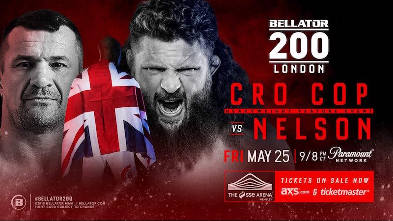 Bellator 200: Cro Cop vs. Nelson Announced