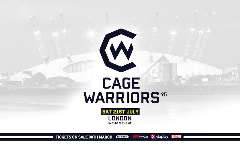 Cage Warriors 95: Saturday 21st July at The Indigo