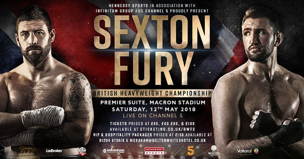 Sexton vs. Fury on Saturday 12th May