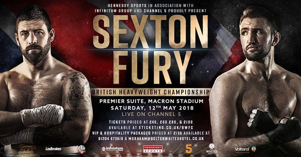 Sexton vs. Fury on Saturday 12th May
