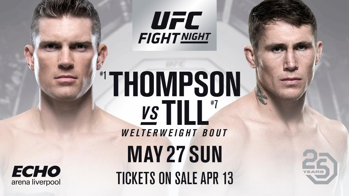 Thompson vs. Till is official for UFC Liverpool