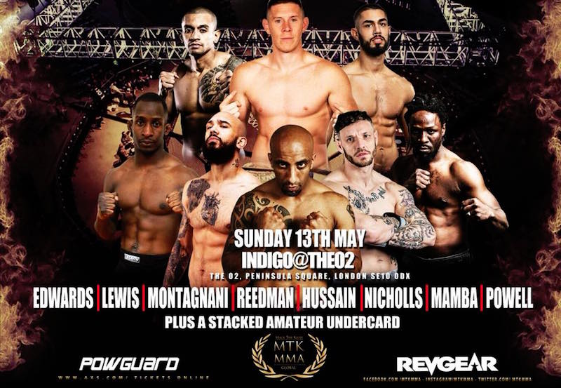 MTK Global MMA Card Details