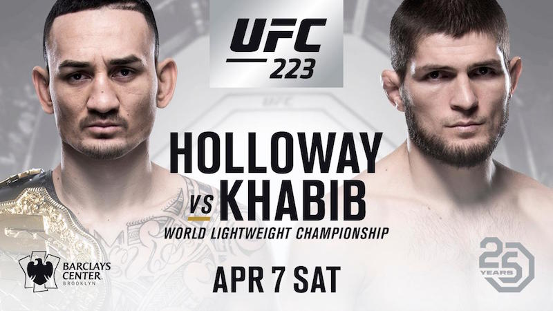 New UFC 223 Main Event: Holloway vs. Nurmagomedov