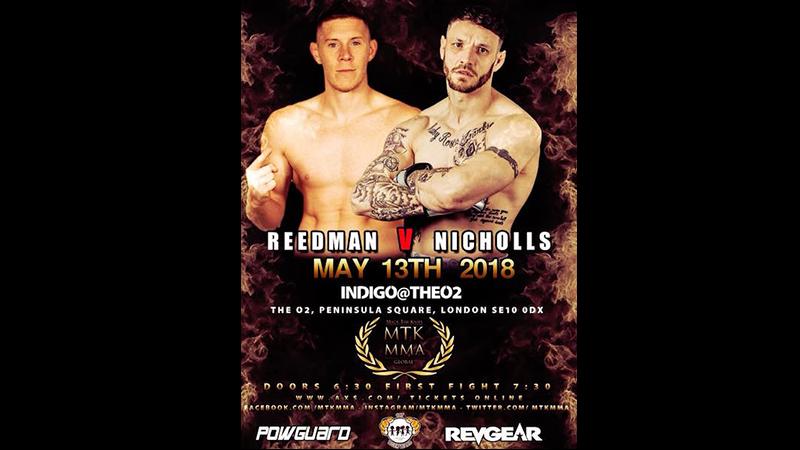 MTK Global MMA: Josh Reedman vs. John Nicholls Set For Sunday 13th May