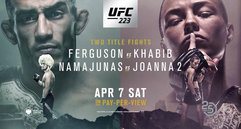 UFC 223 Fight Card
