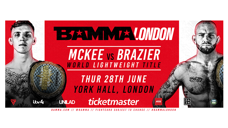 BAMMA London Results: Brazier dominates McKee to become two-weight champion