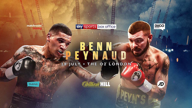 Benn vs. Peynaud 2 set for Saturday 28th July