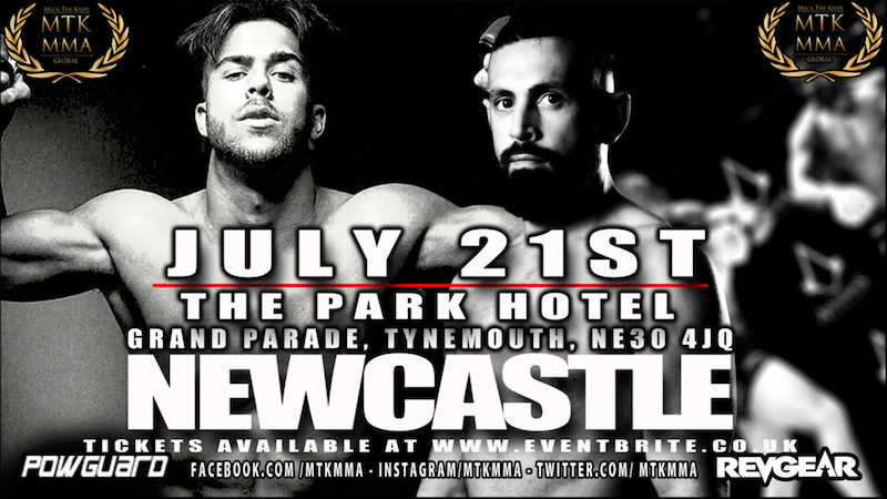 MTK Global MMA Newcastle Set For Saturday 21st July