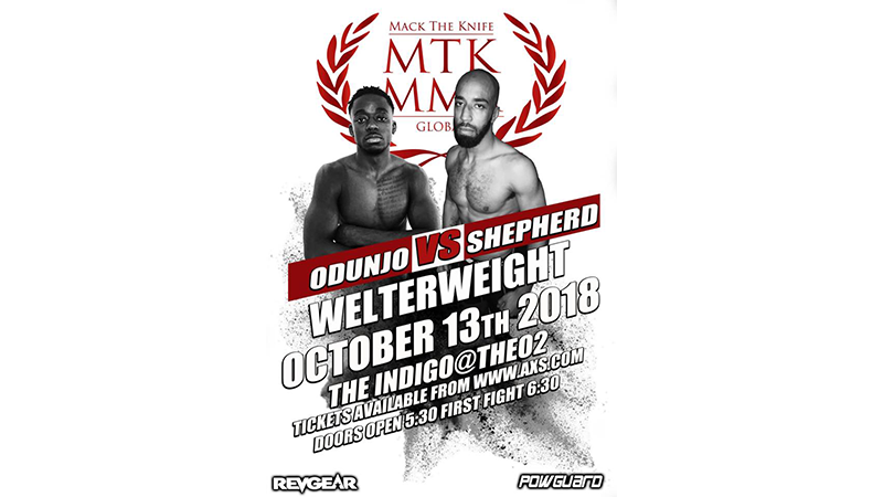 MTK Global MMA London: Odunjo vs. Shepherd