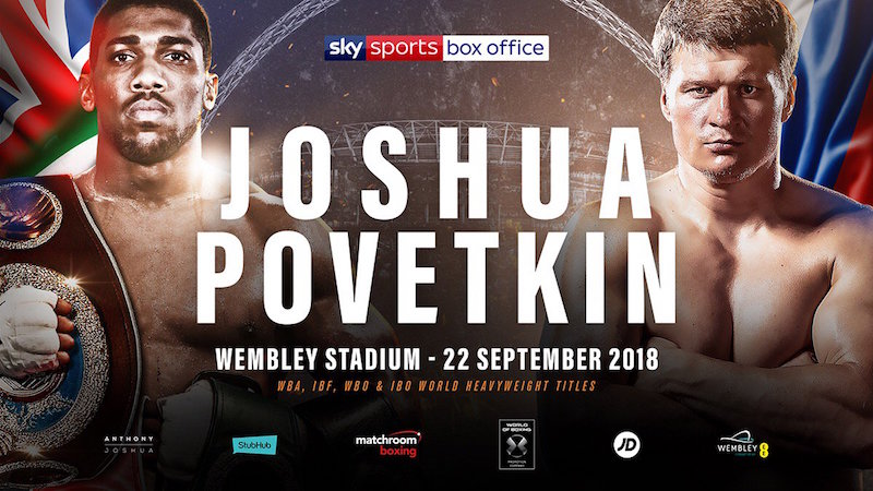 Joshua vs. Povetkin Set For Saturday 22nd September