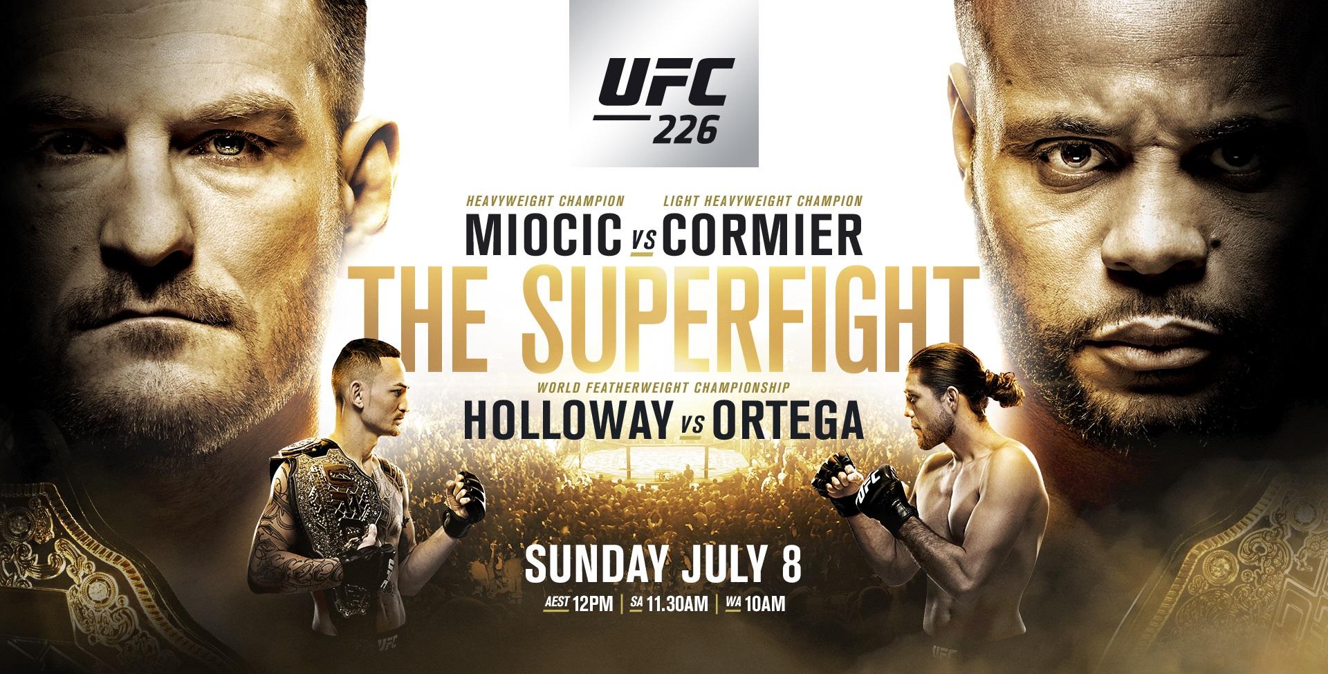 UFC 226 Fight Card