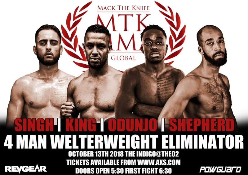 MTK Global MMA announce 4 man Welterweight eliminator