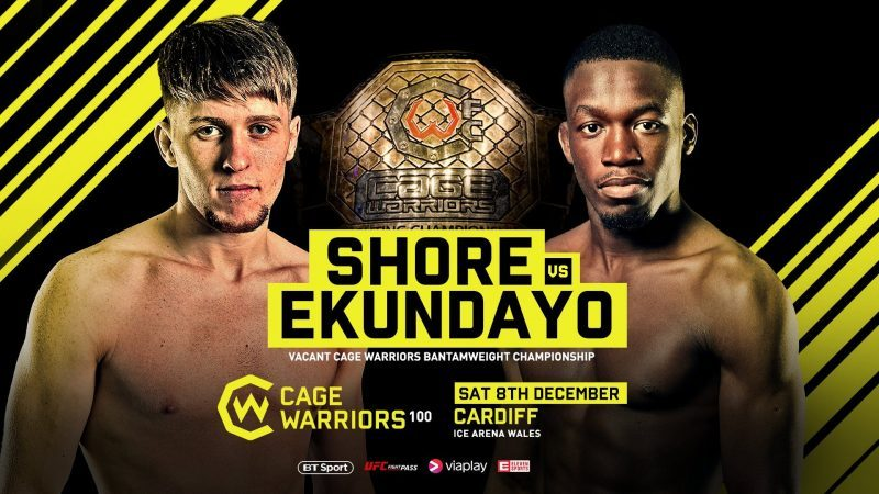 Cage Warrior 100: Shore vs. Ekundayo Announced
