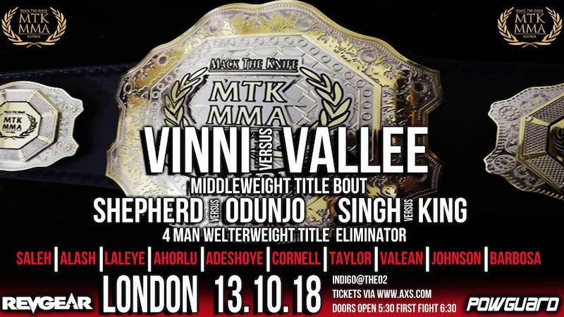 MTK MMA London Card Details