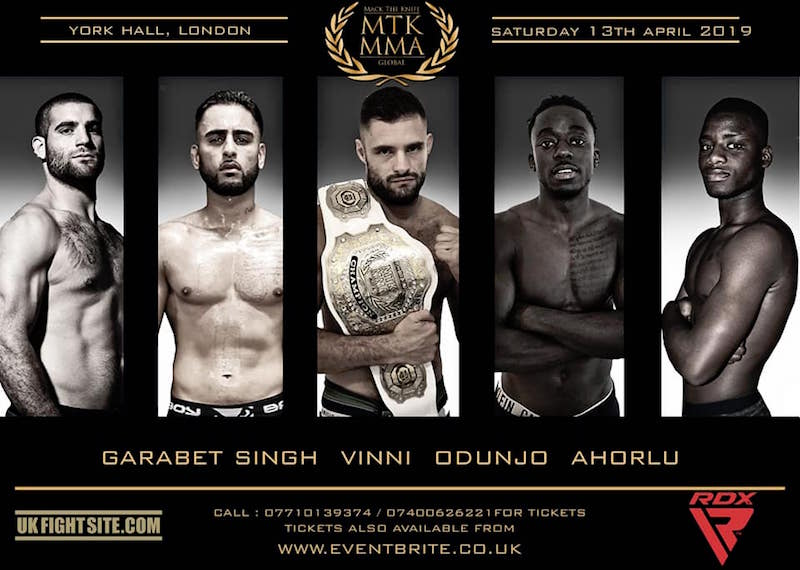 MTK MMA announce 5 more pro fighters and new sponsors for York Hall card