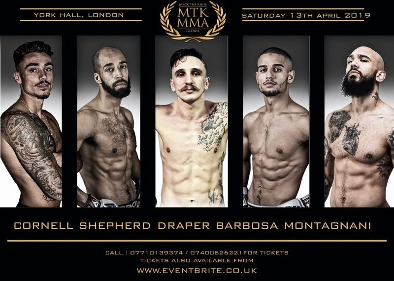 MTK MMA announce York Hall card for Saturday 13th April 2019