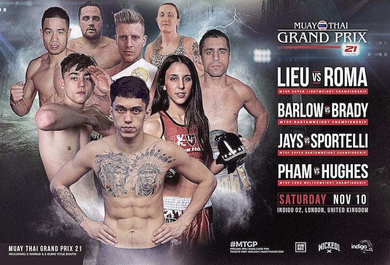 Muay Thai Grand Prix 21 Fight Card