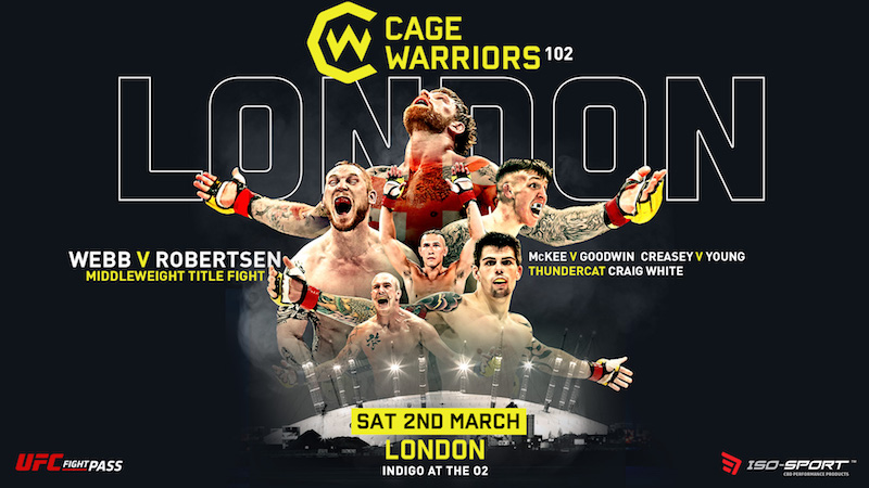 Cage Warriors 102 Fight Card