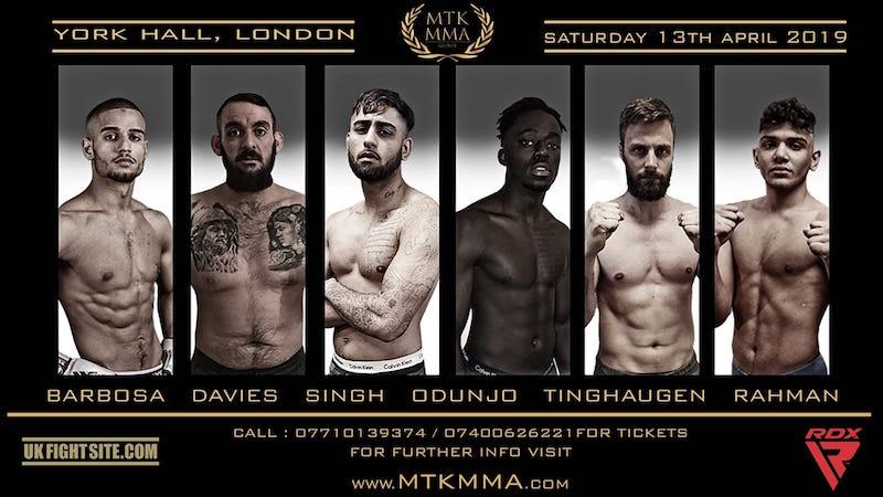 MTK MMA: Saturday 13th April Preview