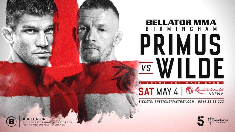 Bellator Birmingham: Primus vs. Wilde Fight Card