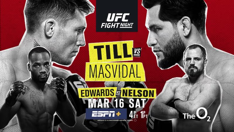 UFC Fight Night: Till vs. Masvidal Fight Card