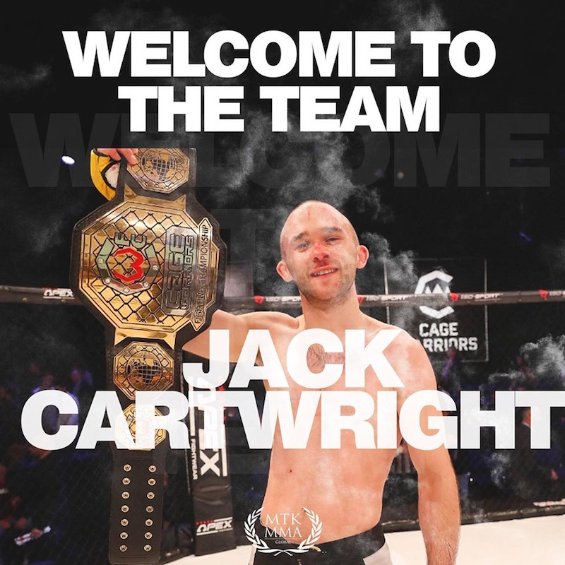 CW Bantamweight Champion Jack Cartwright signs with MTK MMA