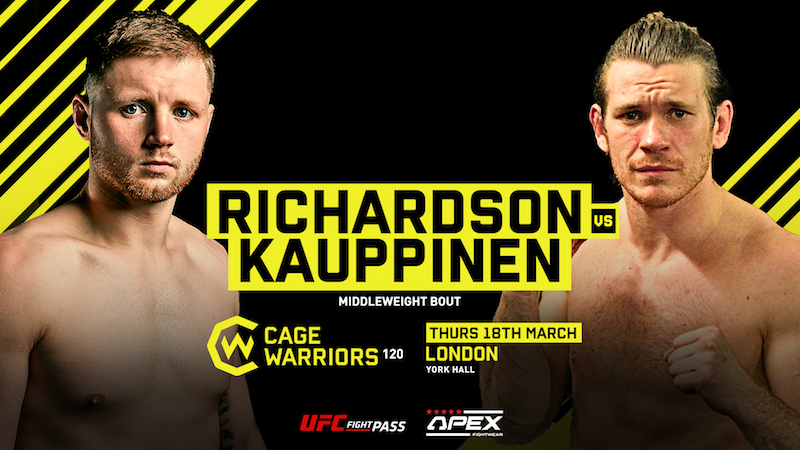 Cage Warriors 120: Richardson vs. Kauppinen Preview