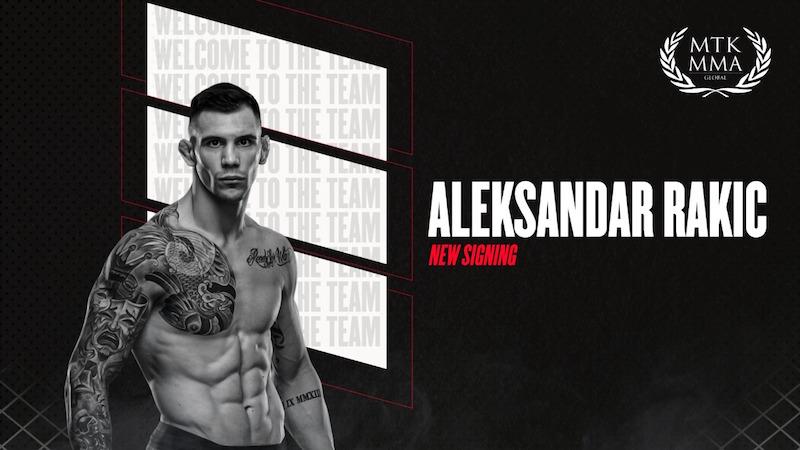 MTK MMA signs UFC #4 ranked light-heavyweight Aleksandar Rakic